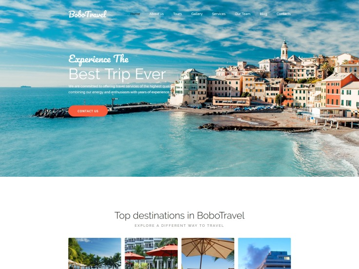 Travel Website Design - BoboTravel - main image