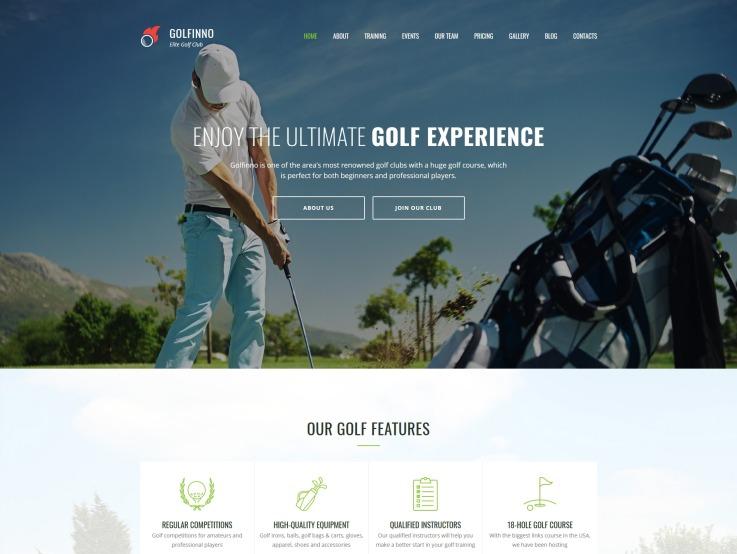 Golf Website Design - Golfinno - main image
