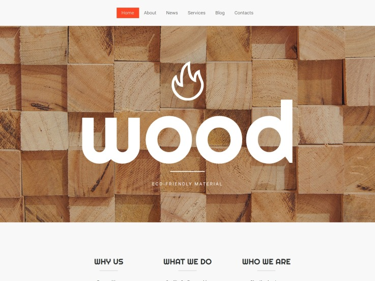 Wood Website Design - main image