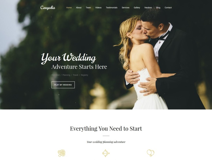Wedding Planner Website Design - Cavyalia - main image