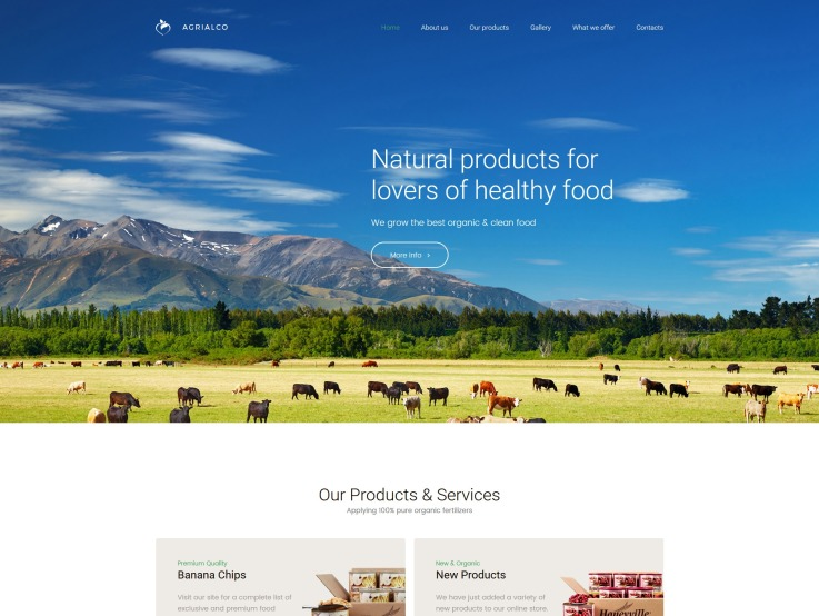Agriculture Web Design - Agrialco - main image