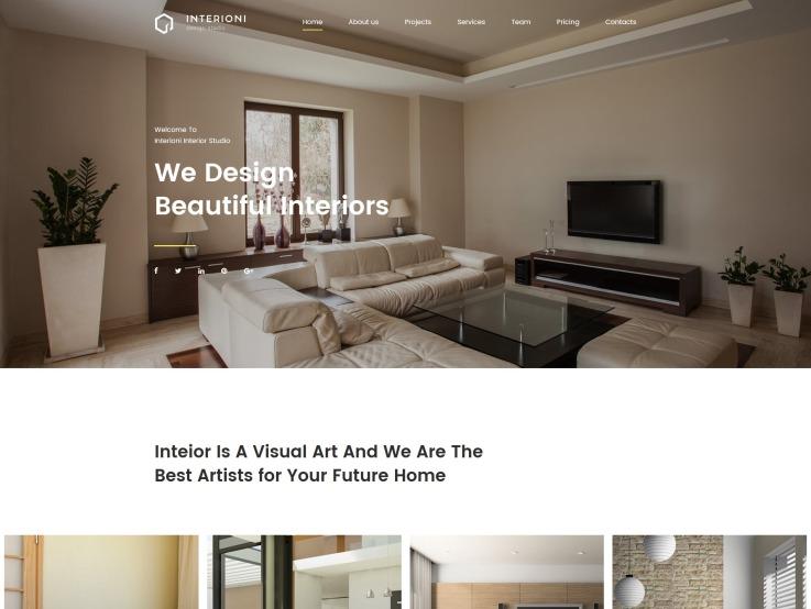 Home Decor Website Design - Interioni - main image