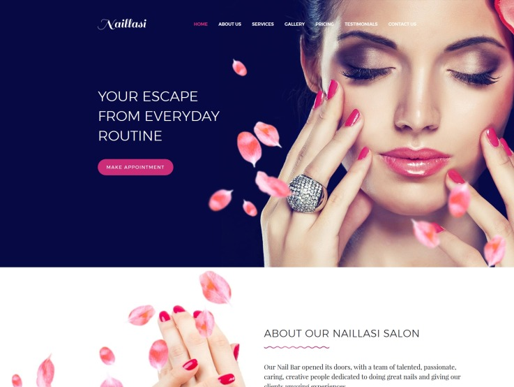 Nail Salon Website Design - Naillasi - main image