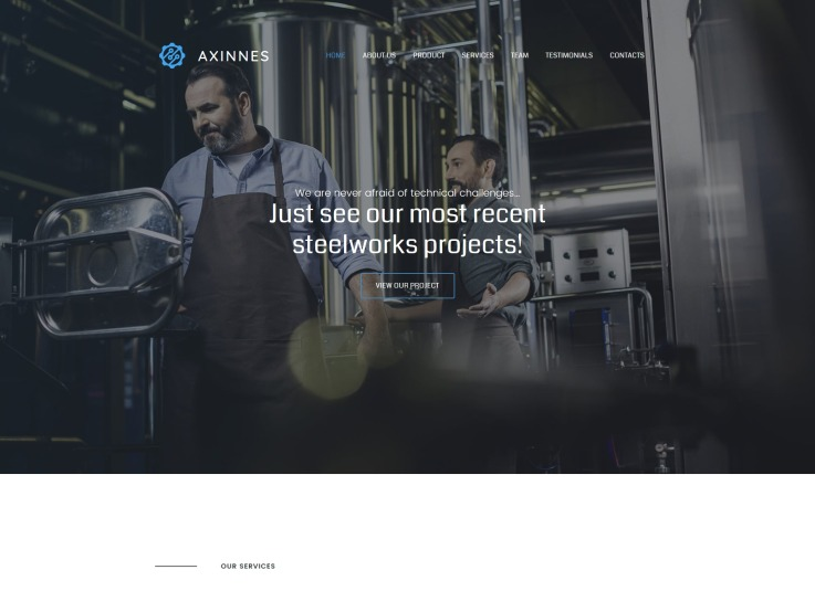 Manufacturing Website Design - Axinnes - main image