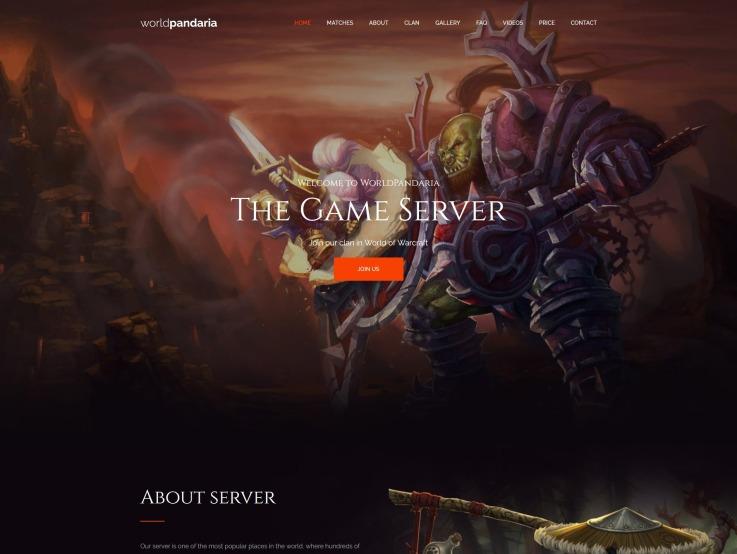 Clan Website Design - WorldPandaria - main image
