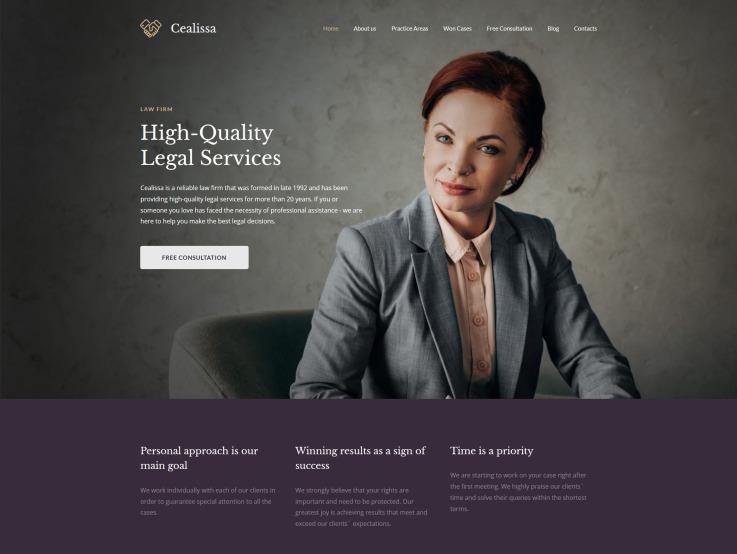 Attorney Website Design - Cealissa - main image