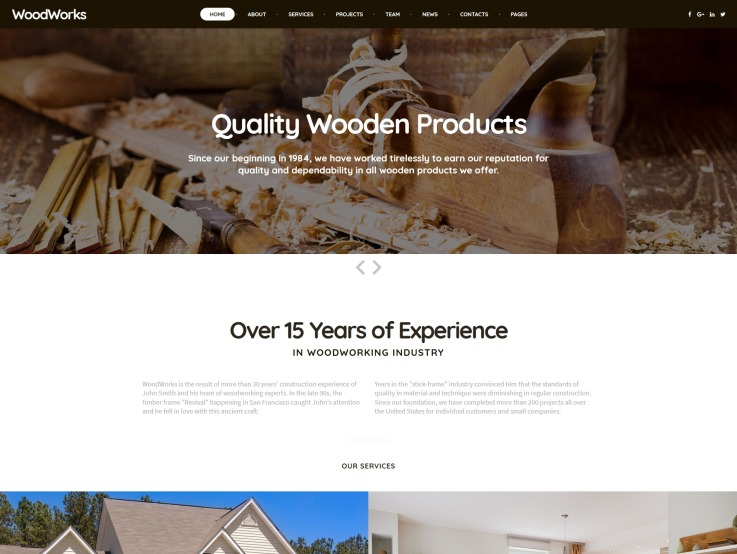 Woodworking Website Design - main image