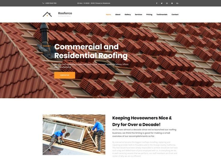 Roofing Website Design - Rooferco - main image
