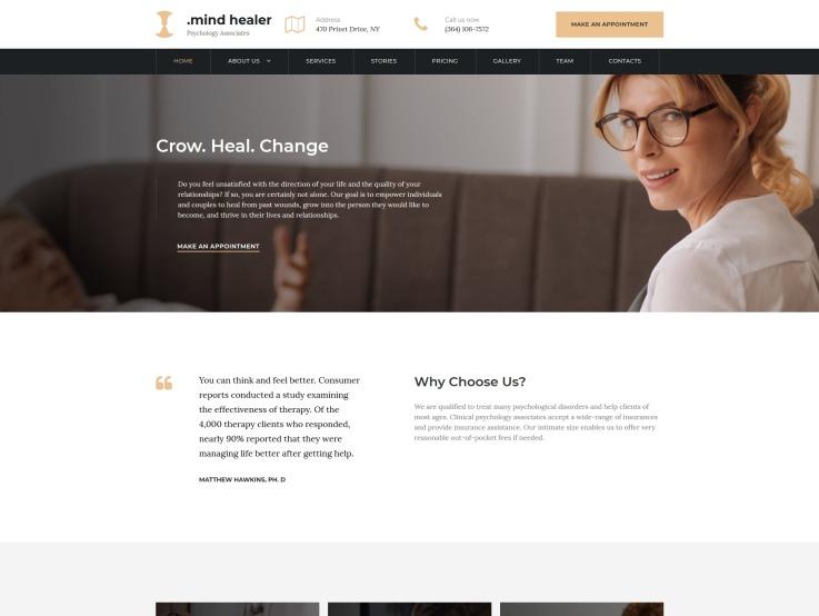 Doctor Website Design - Mind Healer - main image