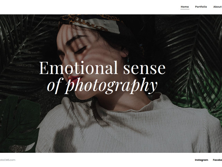 Photography Website Design - Oristi - main image