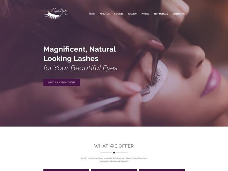 Beauty Salon Website Design - Eyelasher - main image