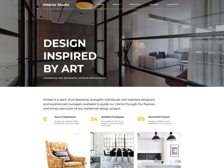 Remodeling Website Design - InteriorStudio - main image