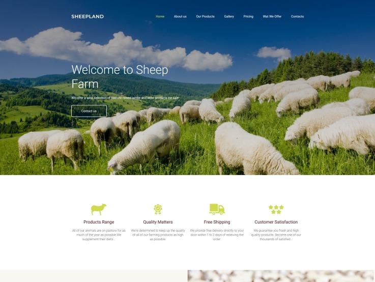 Best Agriculture Website Design - Sheepland - main image