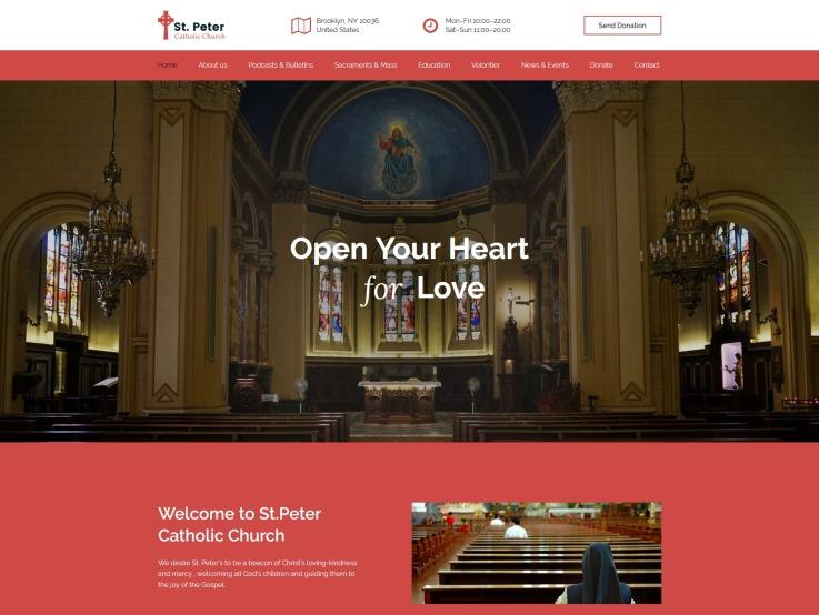Church Website Design St Peter Templatemonster