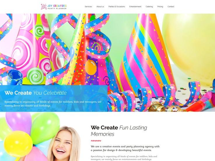 Birthday Website Design - Joy Creators - main image