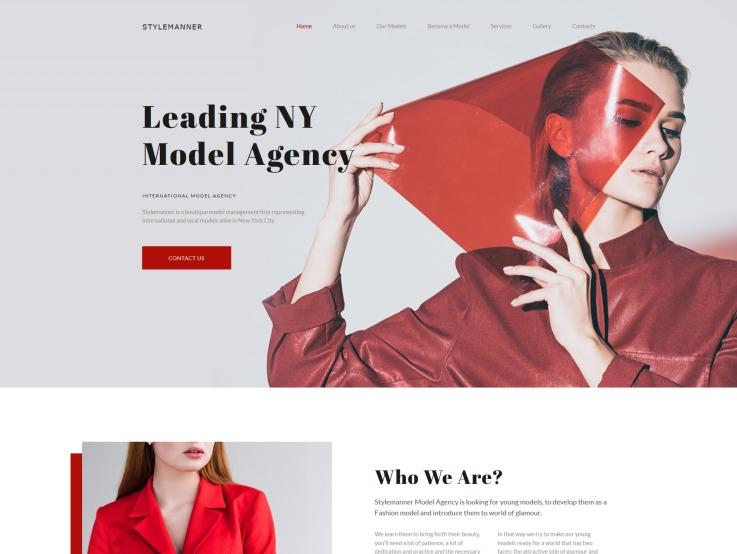 Modeling Website Design with Models Portfolio - main image