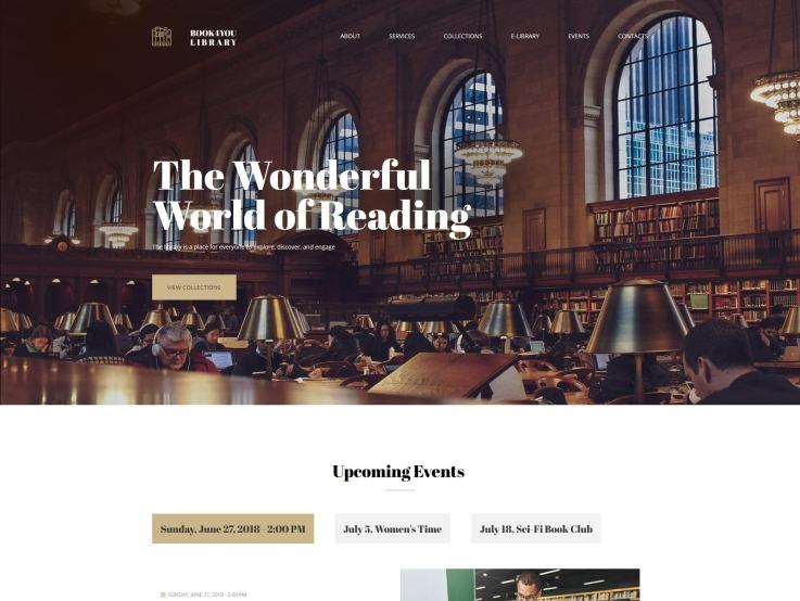 Public Library Website Design - Librarian - main image