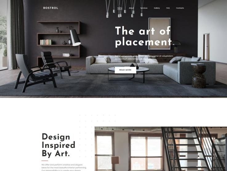 Interior Design Website Template For Home Decor Studios Templatemonster