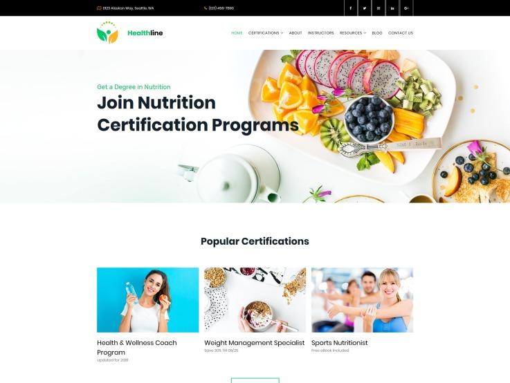 Nutrition Website Design - Healthline - main image