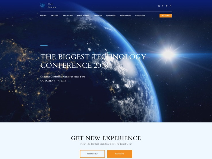 Conference Website Design - Tech Summit - main image