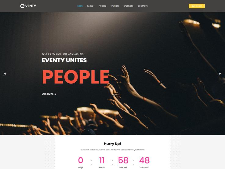 Event Website Design - Eventy - main image