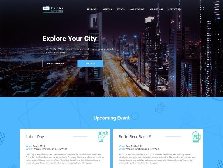 City Portal Website Design - Pointer - main image