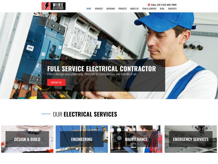 Electricity Website Design - main image