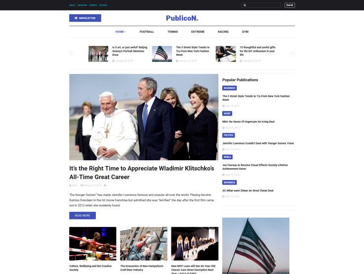 Newspaper Website Design - Publicon - main image