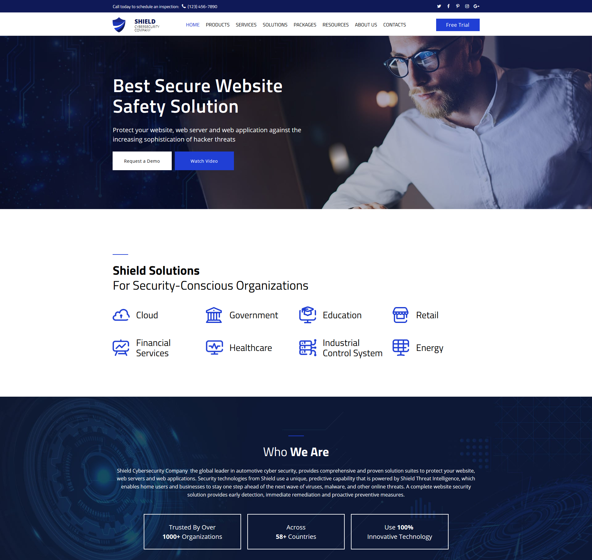 Cyber Security Website Design Templatemonster
