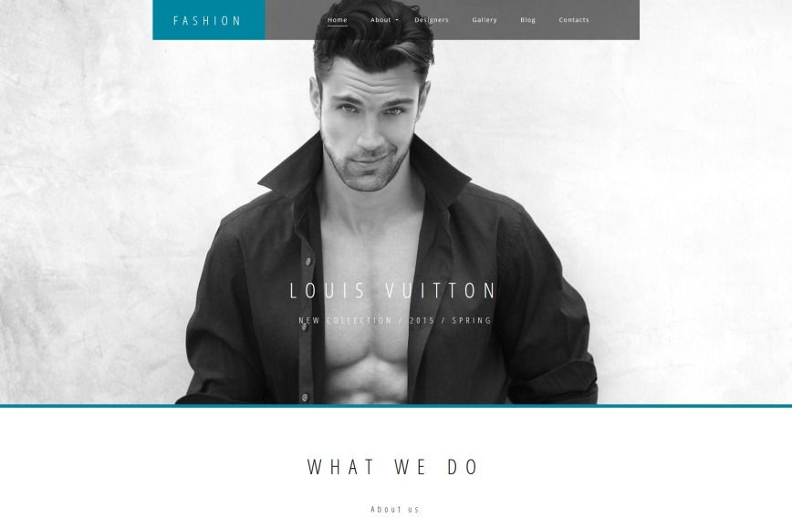 Fashion Designer Website Template For Couture Sites Motocms